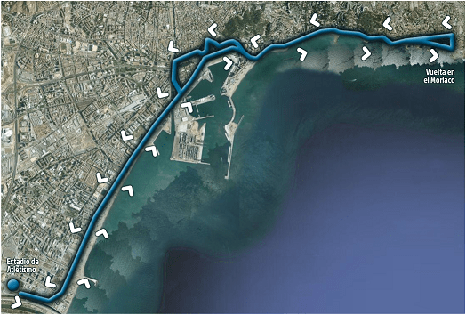 Recorrido del Medio Maratón de Malaga
