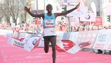 Kipchoge, excampeón mundial de 5.000, gana el maratón de Hamburgo