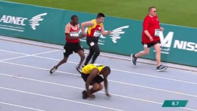 Photo of Kirk Wint corre 50 metros gateando y gana la medalla de plata