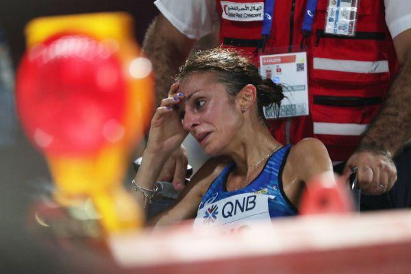 La italiana Giovanna Epis, en el maratón este viernes. ALI HAIDER