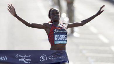Photo of La keniata Brigid Kosgei gana en Newcastle con 1.04:28, el medio maratón más rápido pero sin récord