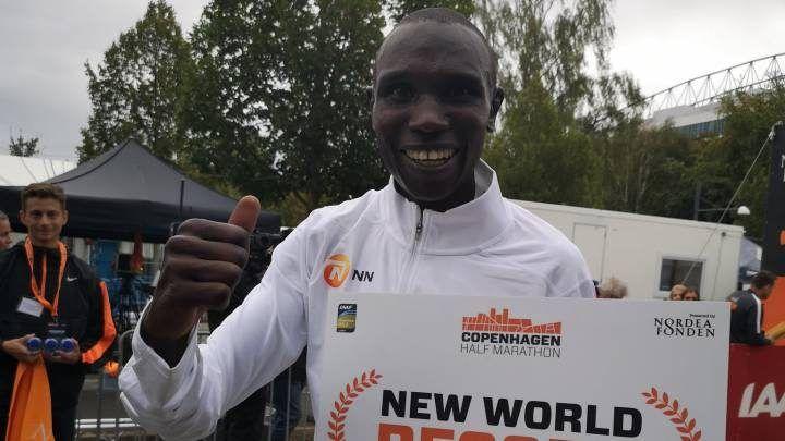 /Geoffrey Kamworor en el Copenhagen Half Marathon