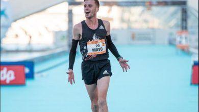 Carlos Mayo en la media maratón de valencia